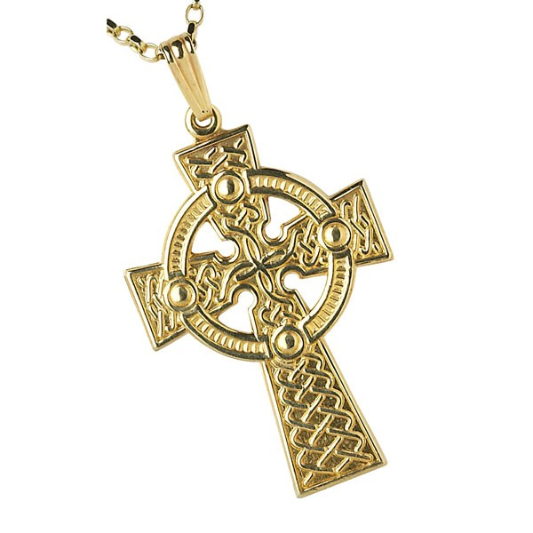 Celtic crosses fallers fallers irish jewelry 10k gold large traditional celtic cross pendant aloadofball Images