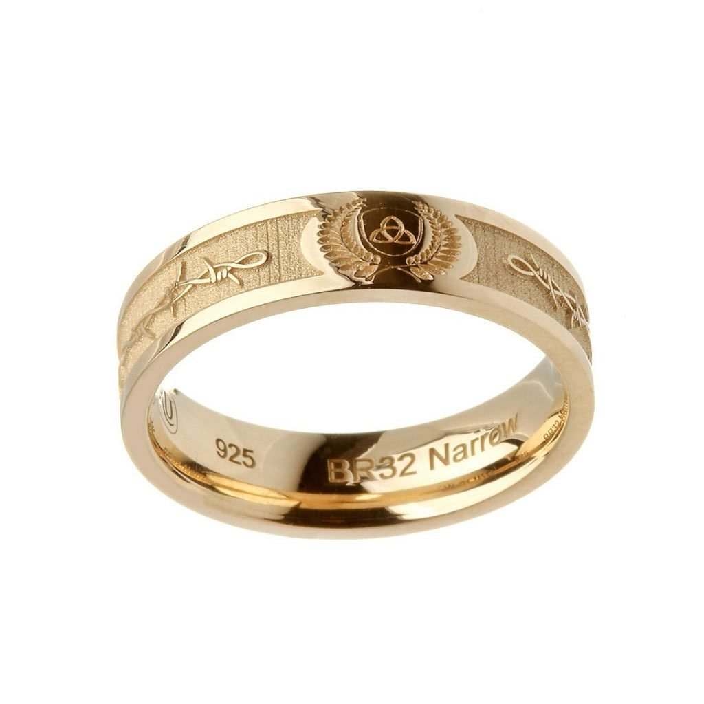 14K Gold Barbed Wire Trinity Knot Ring | Boru | Fallers.com ...