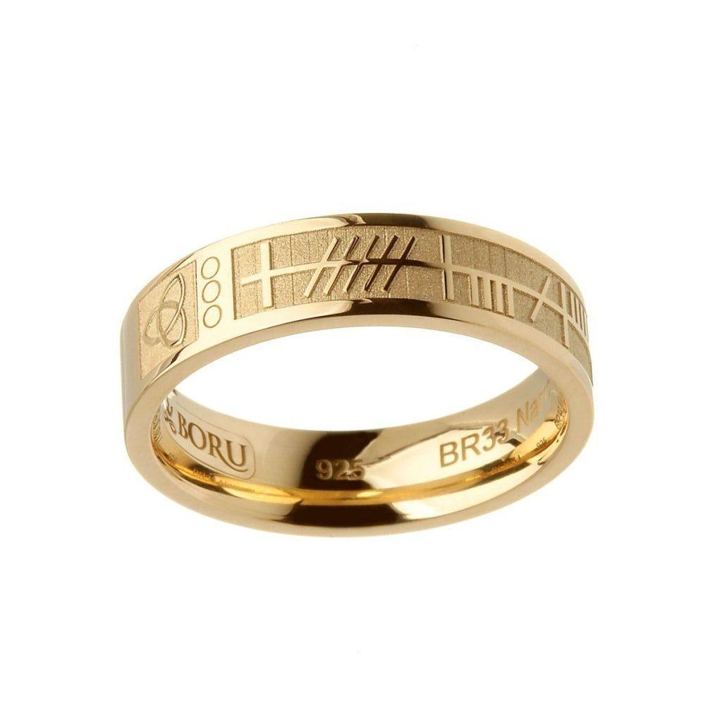 14K Gold Ogham Mo Anam Cara Ring