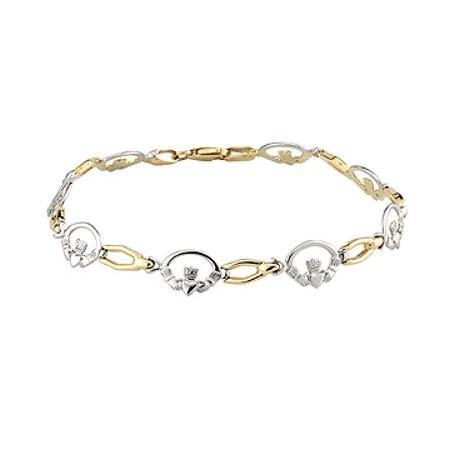 9k Gold T Claddagh Bracelet