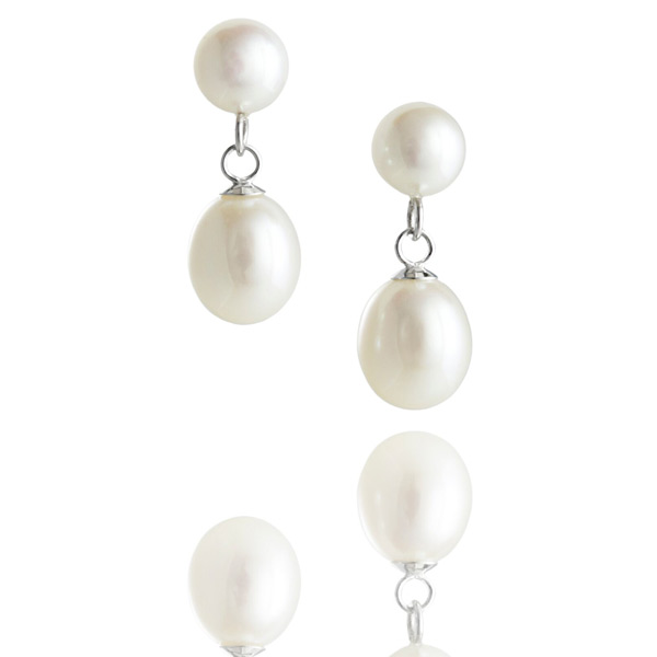 Jersey pearl dew drop freshwater earrings jersey pearl for Irish jewelry stores in nj