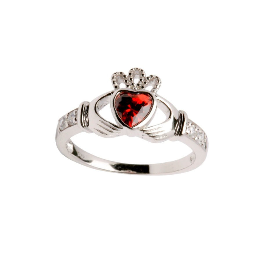 sterling silver birthstone claddagh ring shanore. Black Bedroom Furniture Sets. Home Design Ideas