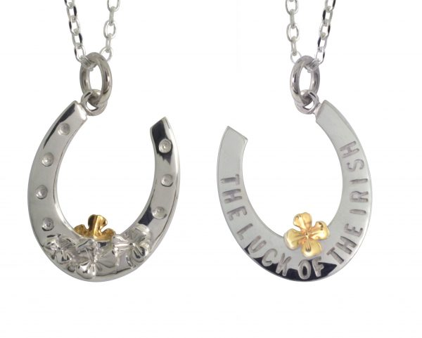 Sterling silver horseshoe pendant fallers fallers irish jewelry sterling silver horseshoe pendant aloadofball Gallery