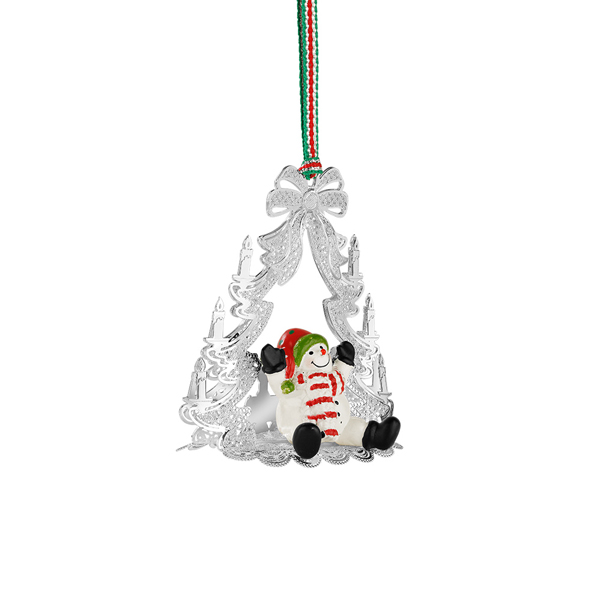 Newbridge Christmas Tree With Snowman Hanging Decoration - Newbridge Silverware Fallers.com - Fallers Irish Jewelry