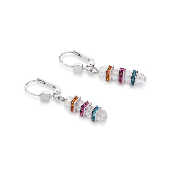 Coeur De Lion Earrings Frontline Swarovski® Crystals   Cut Glass  Multicolour Crystal 909eec1e8511