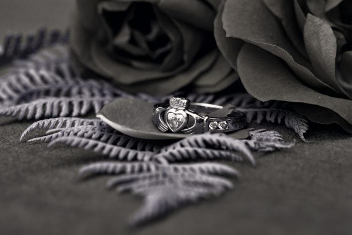Claddagh Ring Black and White