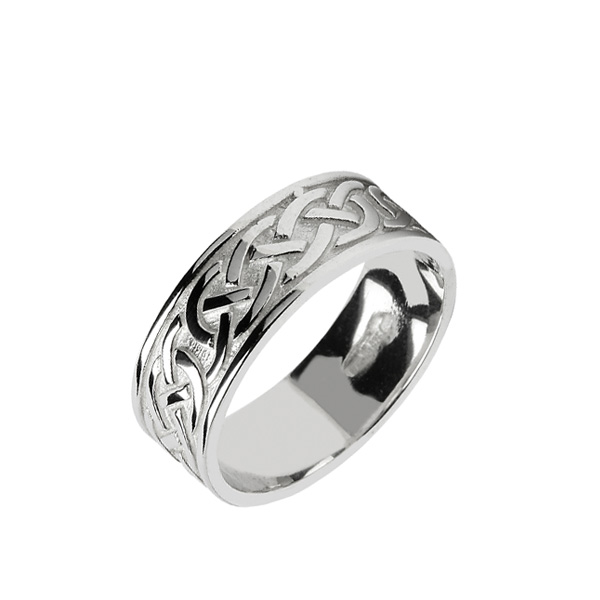 Celtic Knot Wedding Bands.14k Gents Irish Celtic Knot Wedding Ring
