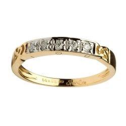Celtic Eternity Ring With Diamond