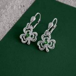 Shamrock Celtic Drop Earrings
