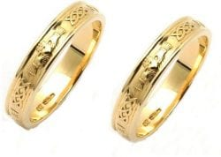 Claddagh Wedding Rings, His and Hers