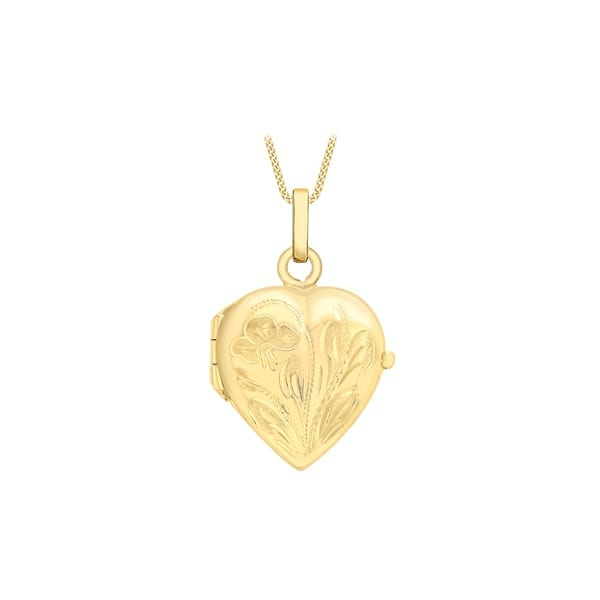 gold heart locket and chain