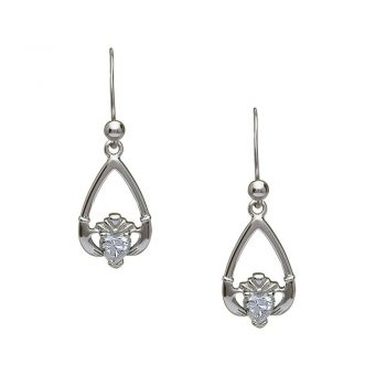 Claddagh Birthstone Earrings
