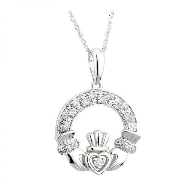Claddagh Diamond Pendant