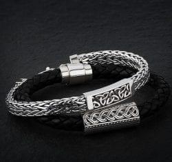 Mens Celtic Bracelets in Sterling Silver