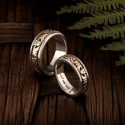 claddagh two tone bands
